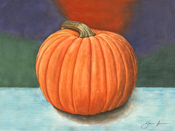 "Pumpkin - Watercolor (2015) 9"" x 12"""