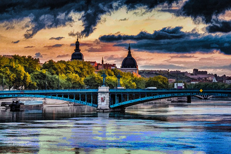 Early morning in Lyon France