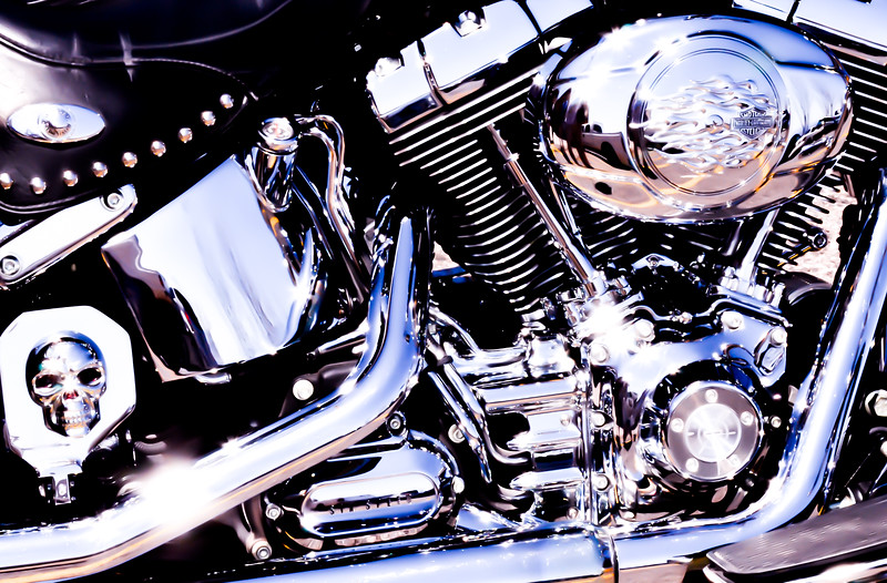 smooth chrome harley closeup az