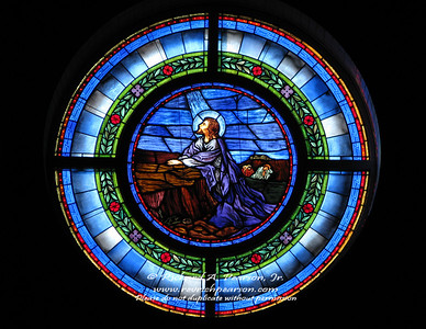 Sanctuary stained glass from Harmony Zelienople United Methodist Church, Zelienople, PA.
