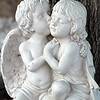 Love Angelic  - small statue of angels kissing
