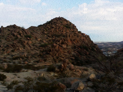 Molehill - Mount Cristo Rey, El Paso, TX Oil Painting