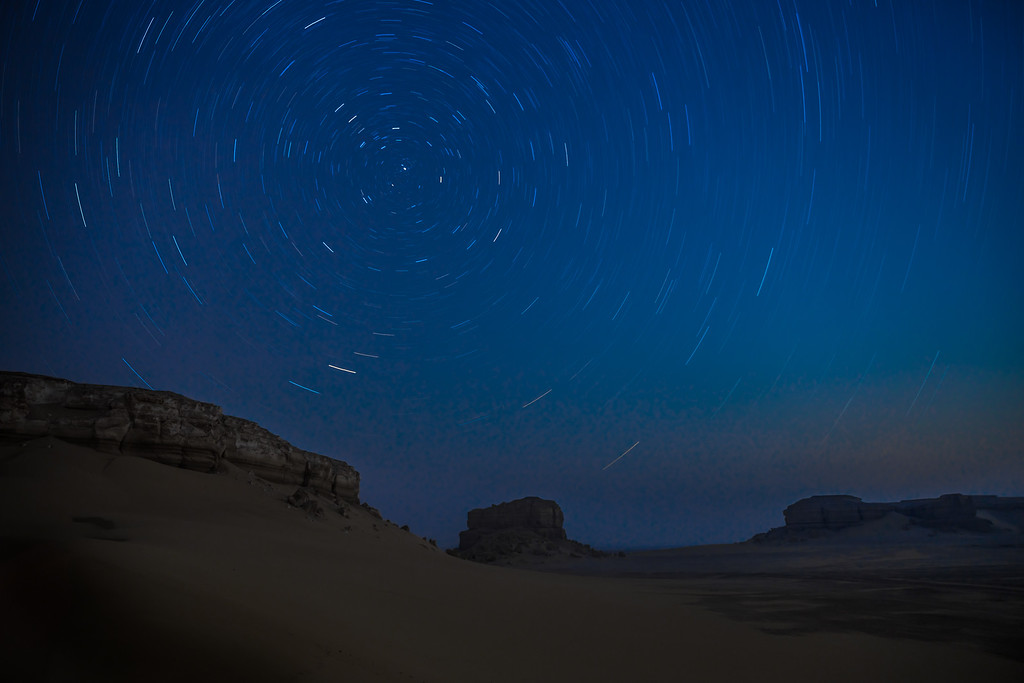 Startrail | Fayoum Desert