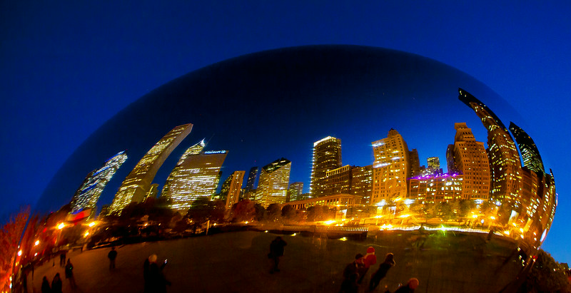 Cloud Gate Millennium Park Chicago IL_18x9x300_7148