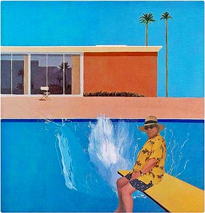 At the pool with Hockney