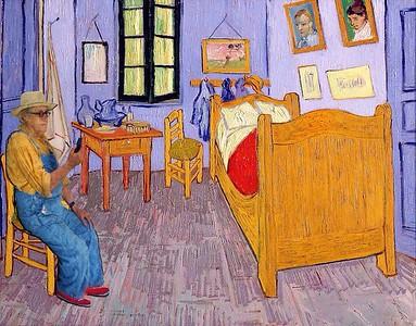 In the bedroom with van Gogh