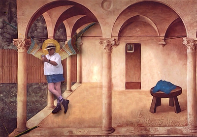 Waiting for Mary with Fra Angelico