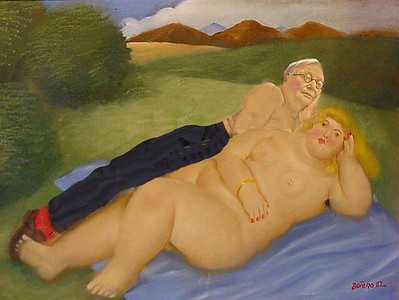 Spooning with Botero