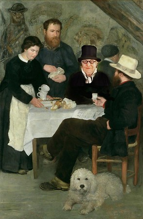 At the cafe with Renoir