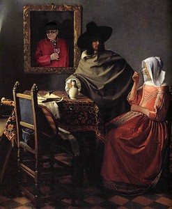 Having a glass with Vermeer