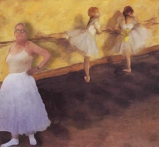 En pointe with Degas