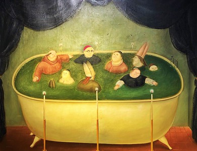 In the Vatican Tub with Botero