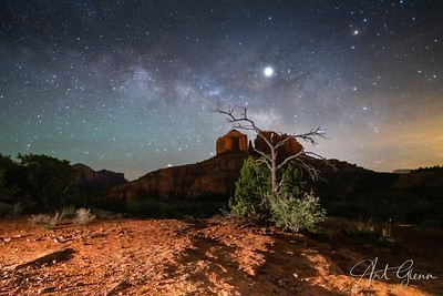 Catedral Rock Light Painting Sedona