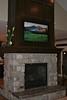 """Wunderli Residence<br /> <br /> """"Albion Basin Sunrise"""" custom giclee` print on canvas; hidden HDTV screen installation."""