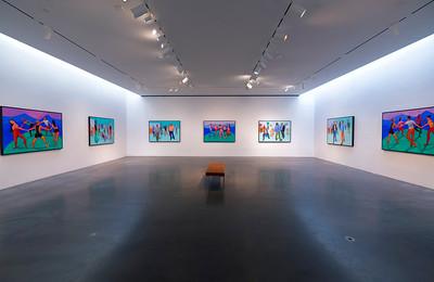 David Hockney figures at a gallery in Chelsea
