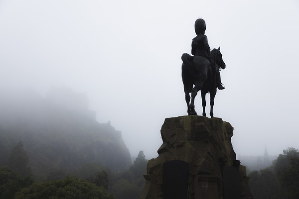 Royal Scots Greys Monument. Edinburgh, Scotland