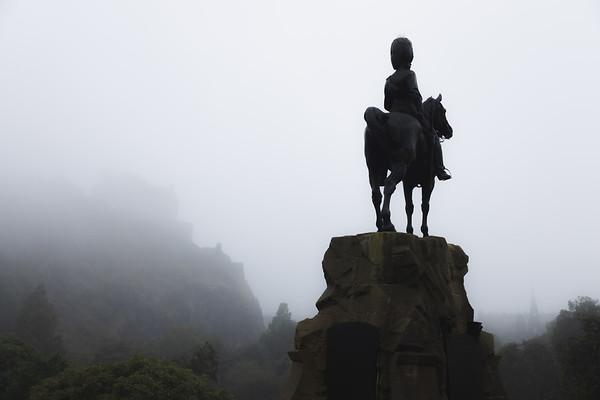 The Royal Scots Greys Monument. Edinburgh, Scotland