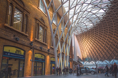 Kings Cross Station. London, England