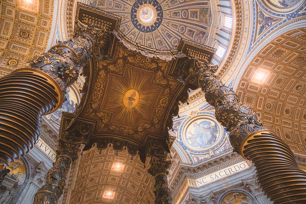 The Baldacchino. Vatican City