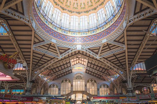 The Central Market of Valencia, Spain