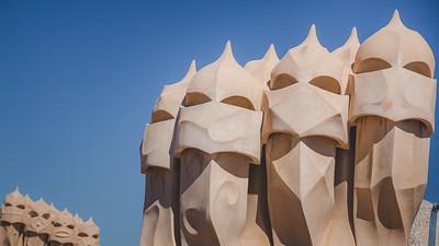 Casa Mila. Barcelona, Spain