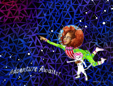 """Adventure Awaits: A Painting for Vada"""