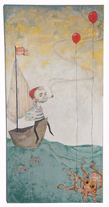 The Sailor // Bill Murray 2010 Mixed Media on Wood Original Sold // Prints available at Store