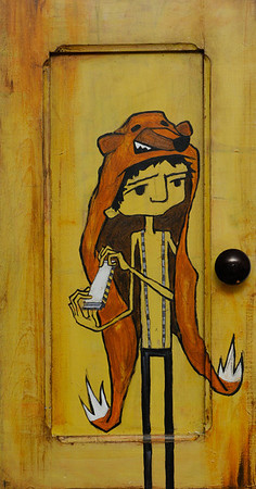 Yellow Door  2011 Mixed Media & Found Objects on Wood