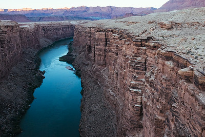 Looking Over Colorado River from Navajo Bridge, 2014