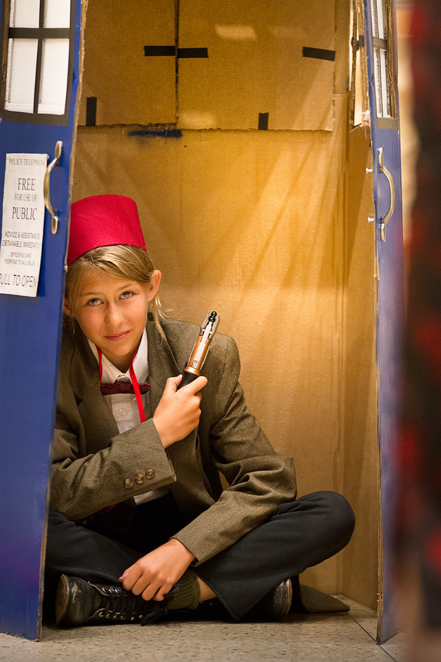 Dr. Who in Police Telephone Booth, 2011