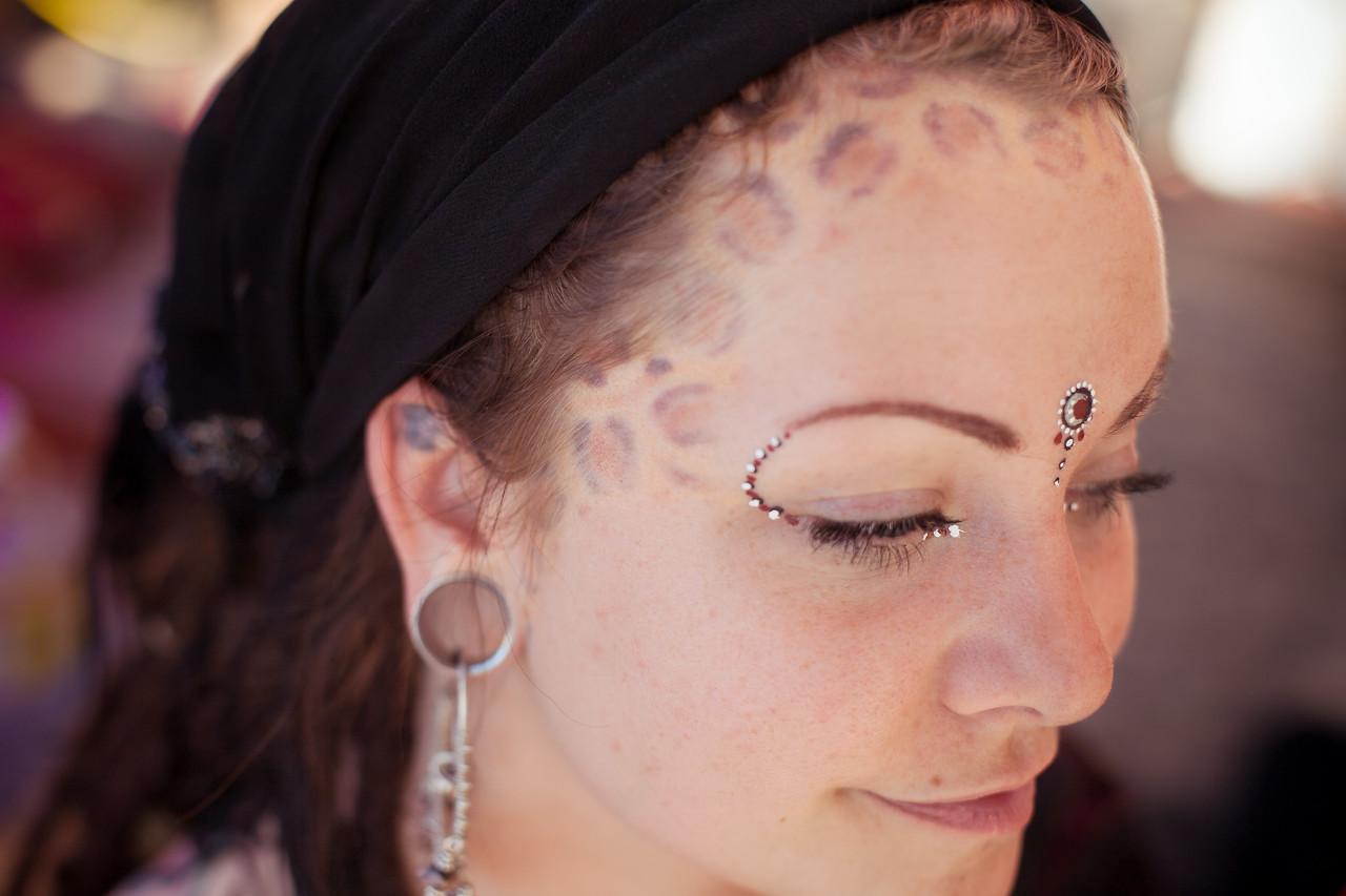 A Woman with Facial Tatoo, 2009