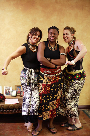 Ready to Go on Stage - Renee, Savannah and Stephanie, 2006