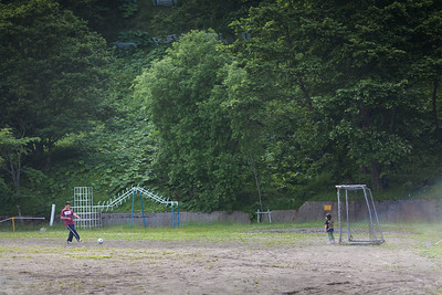 Empty schoolyard - Shiretoko, Hokkaido, 2010
