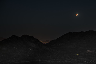 Supermoon Lunar Eclipse - Phoenix Mountains Reserve, 2015