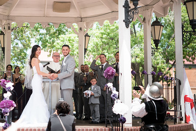 Wedding at Albuquerque Old Town Plaza, New Mexico, 2016