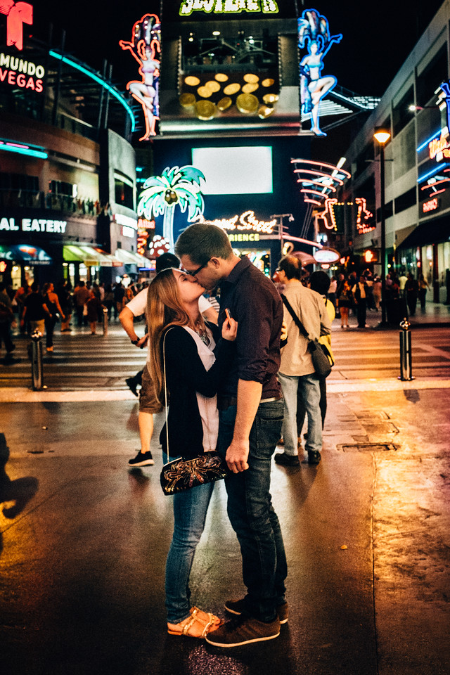 A Kiss on the Street of Old Vegas, 2014