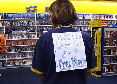 Service-Minded Store Manager at Blockbuster, 2003