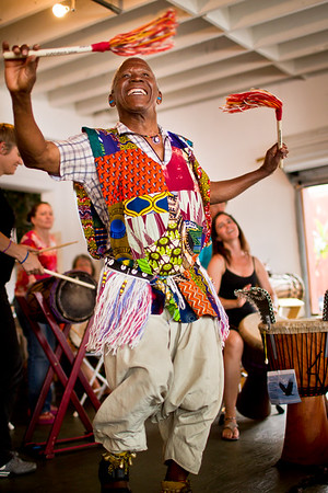 Famoudou Konate Demonstrating Traditional Malinke Dance, 2011