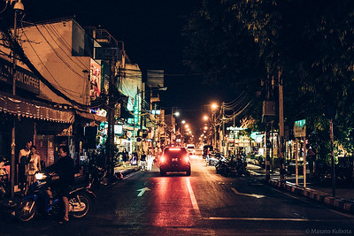 The main street of Old City - Rachadamnoen Rd, Chiang Mai, 2015