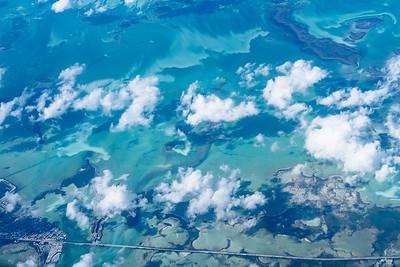 Flying over Key West, 2017