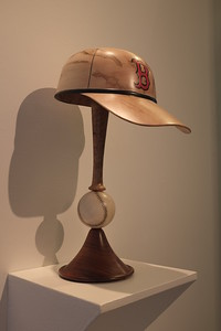 Boston Red Sox wooden hat
