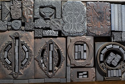 Ornaments, zinc and electrotypes. Late 19th century.
