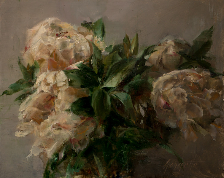 """Peonies Study""  8""x10""  Oil on linen"