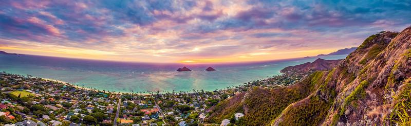 Sunrise over Lanikai, Oahu, Hawaii.