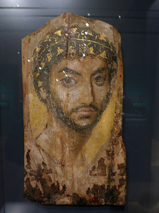 Egyptian Mummy Portrait of a Man, 2d Century, CE