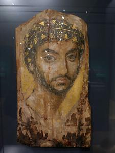 Egyptian Mummy Portrait of a Man, 2d Century, CE
