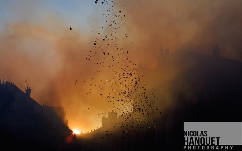 Confetti explosion 1, Dijon, Burgundy, France, 2006