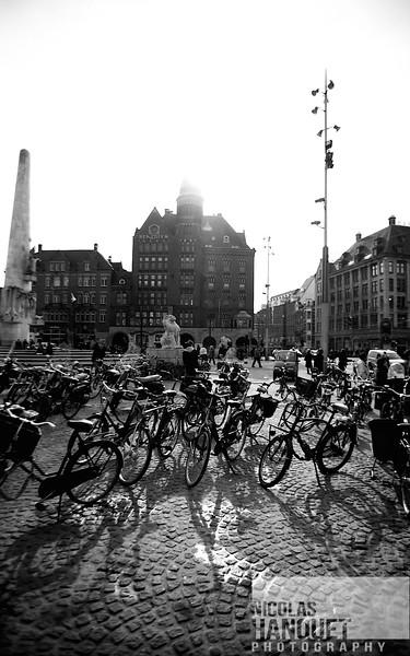 Bikes in Amsterdam, Netherlands,2012