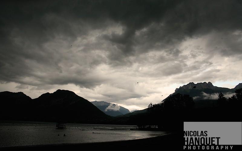 Threatening skies, Annecy lake, France, 2010