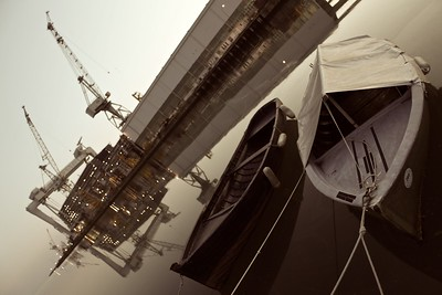 Shipyard reflections 2, Ficantieri Montfalcone, Italy, 2013
